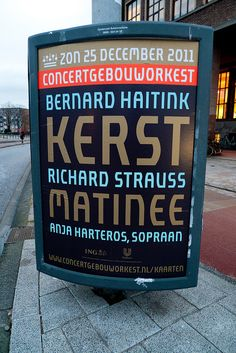 I love #Rene_Knip posters for the Amsterdam's Concertgebouw
