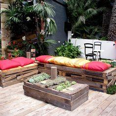 Azoteas on pinterest roof gardens pergolas and decks - Ideas para decorar una terraza ...
