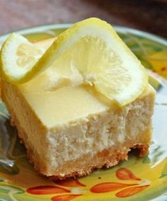 Limoncello Lemon Cheesecake Squares