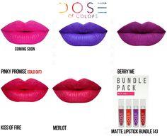 Dose of Colors Matte Liquid Lipsticks