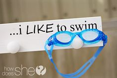 'I Like To Swim' board #2x4crafts #HowDoesShe #swimcraft #HDS howdoesshe.com