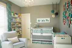grey & teal nursery.