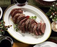 Herbed beef tenderloin - Slowly roasted, Sliced, and Sauced with a ...