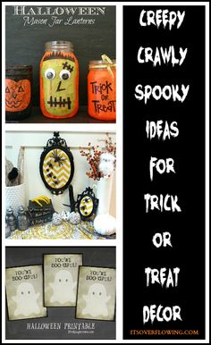 Trick or Treat Decor and More #halloween #trickortreat