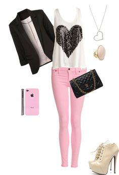 """""""girly outfit"""" by mirandaroo on Polyvore Even the phone case matches!!!"""