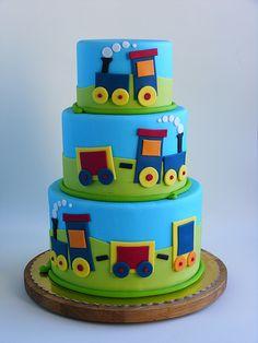 Train cake boys