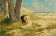 ANTÔNIO PARREIRAS - Iracema Óleo sobre tela - 61 x 92 - 1909