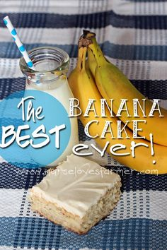 The BEST Banana Cake Ever!