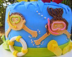 very creative swimming pool cake
