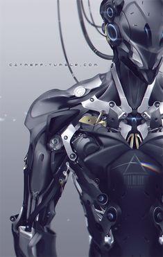 cats, robots, mech, cyborg, android, pink floyd, scifi, digital art, suit