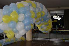 globos en la red para la suelta para la, la red, red para