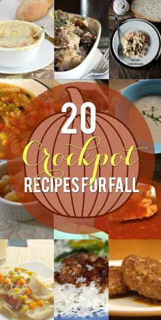 20 Fall Crockpot Recipes by Penney Lane Kitchen Put something warm in the slow cooker as the temperatures drop. Apple dishes, soups, roast- fall comfort food recipes is right here.
