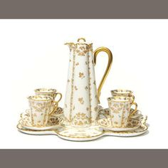 Bonhams 1793 : A Limoges Haviland porcelain part tea service