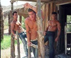 Hot cowboys. I want to visit this ranch.