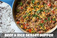 Beef & Rice Skillet