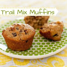 Family Fun's recipe for Trail Mix Muffins feature some of our favorite ingredients for instant and long-lasting energy: dried fruit, peanut butter, quinoa, and even a touch of chocolate. www.parents.com/...