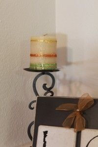 Glitter by Silhouette can be used on candles to add fun detail to create seasonal decor.