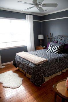 Love the dark bedspread