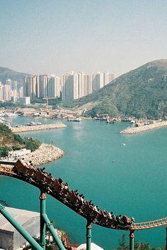 Roller Coaster with a view... Ocean Park, #hongkong