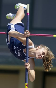 Cedar Cliff's Katlin Gould finished third in the girls pole vault at the Mid-Penn Track and Field Championships Saturday, May 12, 2012. JOHN C. WHITEHEAD/The Patriot-News
