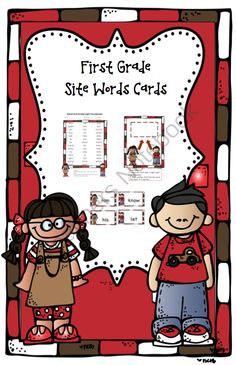 FREE First Grade Site Word Cards from Preschool Printables on TeachersNotebook.com (12 pages)  - Site Word Cards for First Grade