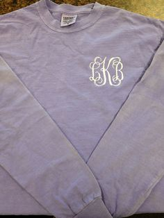 Long Sleeve Comfort Color Monogrammed T-Shirts-  Great for Bridesmaids, Teens, Graduation, Best Friends, Greek, and Birthday Gifts on Etsy, $22.00