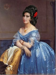 Amy Winehouse - Celebrities Painting in Renaissance Style
