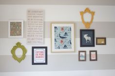 Eclectic gallery wall over crib in nursery - #projectnursery