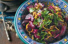 Roast beetroot & walnut salad