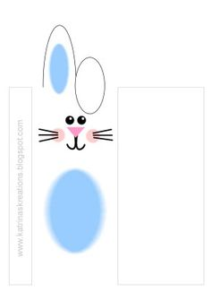 Easter rabbit candy bar wrap