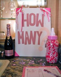 Baby Shower Game! Guess how many!