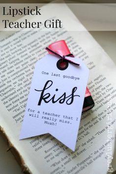 One Last Goodbye Kiss- Easy Lipstick teacher gift or high school senior friend gift.