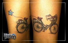 Bicycle tattoo.