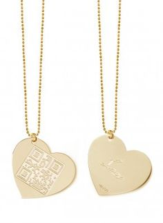 QR Code heart necklace -- the perfect Valentine's Day gift for geeky mamas!