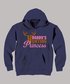 Navy 'Daddy's Hunting Princess' Hoodie - Toddler & Girls