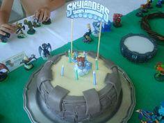 skylanders party portal of power cake