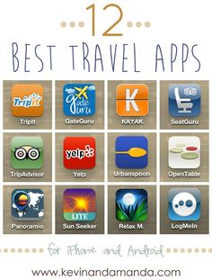 12 Best Travel Apps for iPhone and Android.