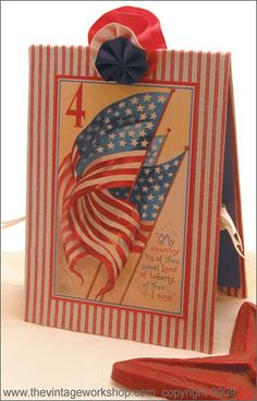 Vintage 4th of July Card