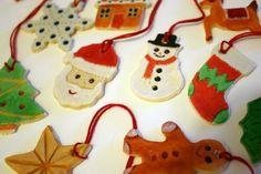 Xmas christmas crafts, salt dough ornaments, diy ornaments, craft idea, christma craft, holiday craft