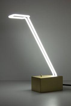 Molded Neon Desk Lamp