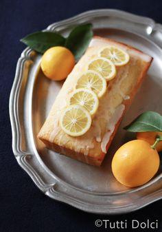 Meyer Lemon Pound Cake | filled with sunshine and lightened up with Greek yogurt