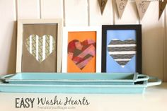 A cute Valentine's duct tape project for kids!