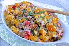 Zucchini, Tomato and Sausage Casserole--a full meal--all in one dish! | Fountain Avenue Kitchen