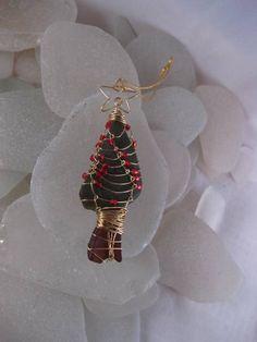 Sea glass, sea glass, Christmas tree ideas, jewelry idea, ornament, gifts crafts