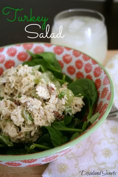 Turkey Salad Recipe. Perfect for any lunch get together!