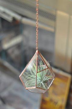 Copper chain - 18 gauge slim - ideal for hanging smaller terrariums - terrarium chain. $3.00, via Etsy.