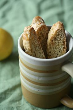 Lemon Ginger Pistachio Biscotti: Dunk into a mug of citrus-scented black tea and exhale.