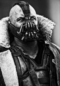 """""""Bane"""" The Dark Knight Rises. The Joker (Heath Ledger) blew me away with skills as an actor.. Butt Bane.. Pfff! The facial expressions begind the mask are unreal!!"""