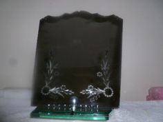 Vintage Victorian Etched Heavy Glass Silverplate Mirror with Stand | eBay