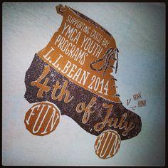 #LLBean's annual Fourth of July Fun Run graphic for Kids' T-shirts - Fun!!!